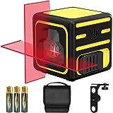 Livella laser, papasbox Laser a Croce Autolivellante Misuratore a Infrarossi Orizzontale e Verticale, Livello Laser Autolivel
