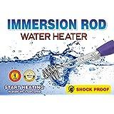 A & Y Shock Proof Heavy Duty Metal Water Heater Immersion Rod, Silver (Heavy 2000W)