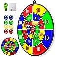 Lbsel Kids Kerst Party Thema Game Dart Board Set met 8 Sticky Balls Kinderen Buiten Tuin Games Speelgoed Speelgoed Veilig Dar