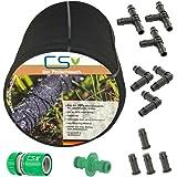 50m CS Perlschlauch Startup, Bewässerungsschlauch mit umfangreichem Zubehör-Set Z1