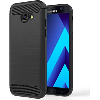 59852eb6515593 MoKo Coque Samsung Galaxy A5 2017 - en Prémium Fibre de carbone  Ultra-Léger, Caoutchouc TPU Souple Anti-chocs pour Galaxy A5 5.2 Pouces  Modèle 2017, Noir ...