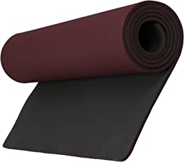 Aerolite Premium Double Colour Yoga/Fitness Mat (10mm, Cherry)