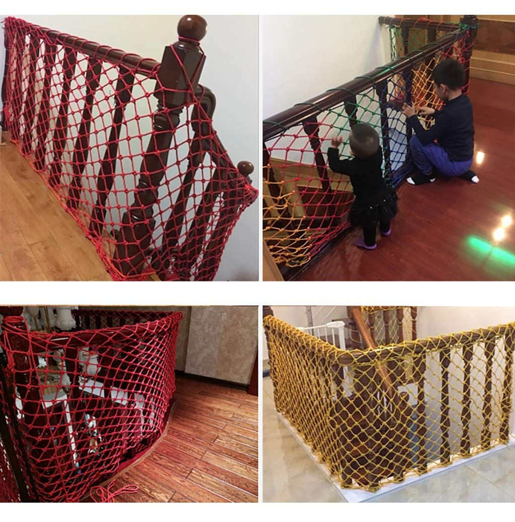 Child safety net protective net balcony stairs anti-fall net kindergarten color decorative net fence network Length 1M /9M Hand braided traditional structure (Color : Outdoor, Size : 4m*5m)  [Protect children's safety]: Many children fall from the building, let us understand that the safety of children can not be ignored. [Polyester knotless woven mesh]: The mesh surface has large pulling force, and the double needle has no knot woven mesh hole, so that the mesh has stronger impact resistance. [wire diameter 4MM, mesh spacing 4CM]: Escort for baby safety.(Others available in our shop) 7