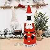 WanXingY Borsa for Bottiglia di Vino Rosso Borsa, Tavola di Natale Bottiglia di Vino Decorazione Regalo Party Family…