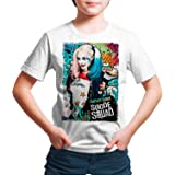 DibuNaif Camiseta Niño - Unisex, Superhéroes y Villanos, Harley Quinn