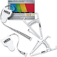 MEDca - Misuratore di nastro per corpo e pinza Skinfold per body set, confezione da 2 – analizzatore di grasso corporeo…