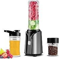 UBEGOOD Blender Smoothie, Portable Mixeur Smoothie Multifonction Blender Électrique en Acier Inoxydable, 400 W Mini…