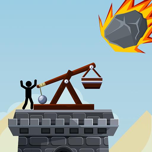 Catapult Target Shooting Sim Challenge: Stickman Castle Siege Assault