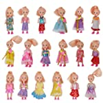 wp Toys Mini Doll with Colorful Clothes Costume (4 -inch) - Pack of 3