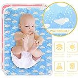HyAdierTech Almohadilla De Cuna Impermeable para Bebé, Cambiadores De Pañales y Ropa Impermeables Acolchado Bebe, Plegables,