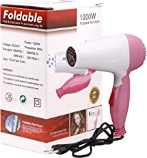 Techsun Mart Plastic Professional Folding Hair Dryer Hair 1000W (Multicolour, 1000WFoldablehairdryer)