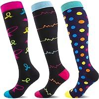 Calze a compressione per uomo e donna, 20 – 30 mmHg, ideali per sport, viaggi, gravidanza, infermiera, corsa, fitness