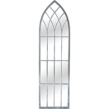 Reflect Metal Gothic Glass Garden Mirror - 4ft 7in x 1ft 3in
