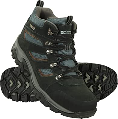 Mountain Warehouse Voyage Mens Waterproof Mid Hiking Boots - Suede & Mesh Upper, EVA Midsole, High Rise Hiking Boots, Rubber Outsole Shoe -Footwear for Walking, Trekking
