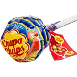 Chupa Chups Lecca Lecca Mega Chups, Lollipop Gigante Contenente 10 Lollipop Gusti Assortiti Fragola, Arancia, Mela…