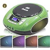 Lauson NXT964 Tragbarer CD-Player, LED-Discolichter, CD-Radio, Boombox, CD Player für Kinder, kinderradio mit cd und USB…