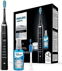 Philips Sonicare DiamondClean Neue Generation Elektrische Zahnbürste mit Schalltechnologie HX9355/86, schwarz