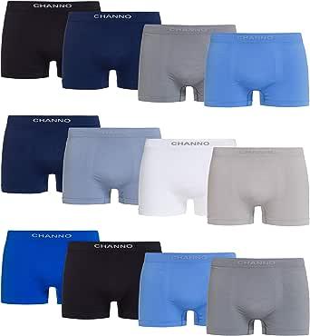 Channo Pack of Boxer Briefs Lycra Seamless Uniform Colour