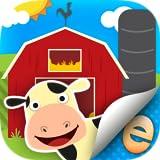 Tier-Aufkleber Für Kinder Bauernhof Aktivität Szene Bauer