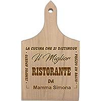 Tagliere da Cucina Personalizzabile Festa della Mamma Il miglior Ristorante da Mamma (Nome della Mamma) - Sempre Aperto…