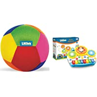Little's Baby Ball (Multicolour) & Drum Keyboard Musical Toy