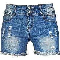 PHOENISING Women's Stylish Stretchy Fabric Denim Shorts Fashion Comfy Short Pants, Size 6-20