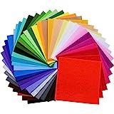 moinkerin 40 Pezzi Feltro Colorato Fogli di Tessuto in Feltro, Colorato Tessuto in Poliestere per Lavoro Manuale DIY, Patchwo