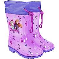 PERLETTI Stivaletti Pioggia Bambina Frozen con Anna Elsa - Stivali Antiscivolo Viola e Lilla di Disney Il Segreto di…