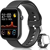 BANLVS Smartwatch, Reloj Inteligente Mujer Hombre con Correa Repuesta, Smartwatch Impermeable IP67 con Monitor de Sueño Conta