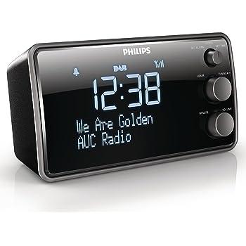 Philips AJB3552 Digitaler Radiowecker mit DAB+ (LCD-Display, Sleeptimer, Gentle Wake, DBB) schwarz