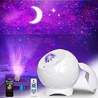 Fezax Proiettore Stelle, Romantica luce stellata con altoparlante Bluetooth e suono attivato, Proiettore Nebula Galaxy…