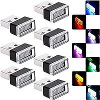 Luci per Auto a LED per Auto,7 Pezzi Plug-in 5V Universali Mini Luci a LED USB,Kit di Illuminazione per Interni Auto,per…
