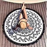 Überwurf Cape Rundes Strandtuch/Strandtücher, Boho Stil Wandteppich Strandtuch Schal, Sonnenschutz Schal, Indisches Mandala R