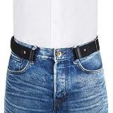 "VBIGER Men Women No Buckle Belt Buckle-Free Elastic Belts Unisex Durable Invisible Adjustable Waist Belt Fits 24""-59"" with Th"