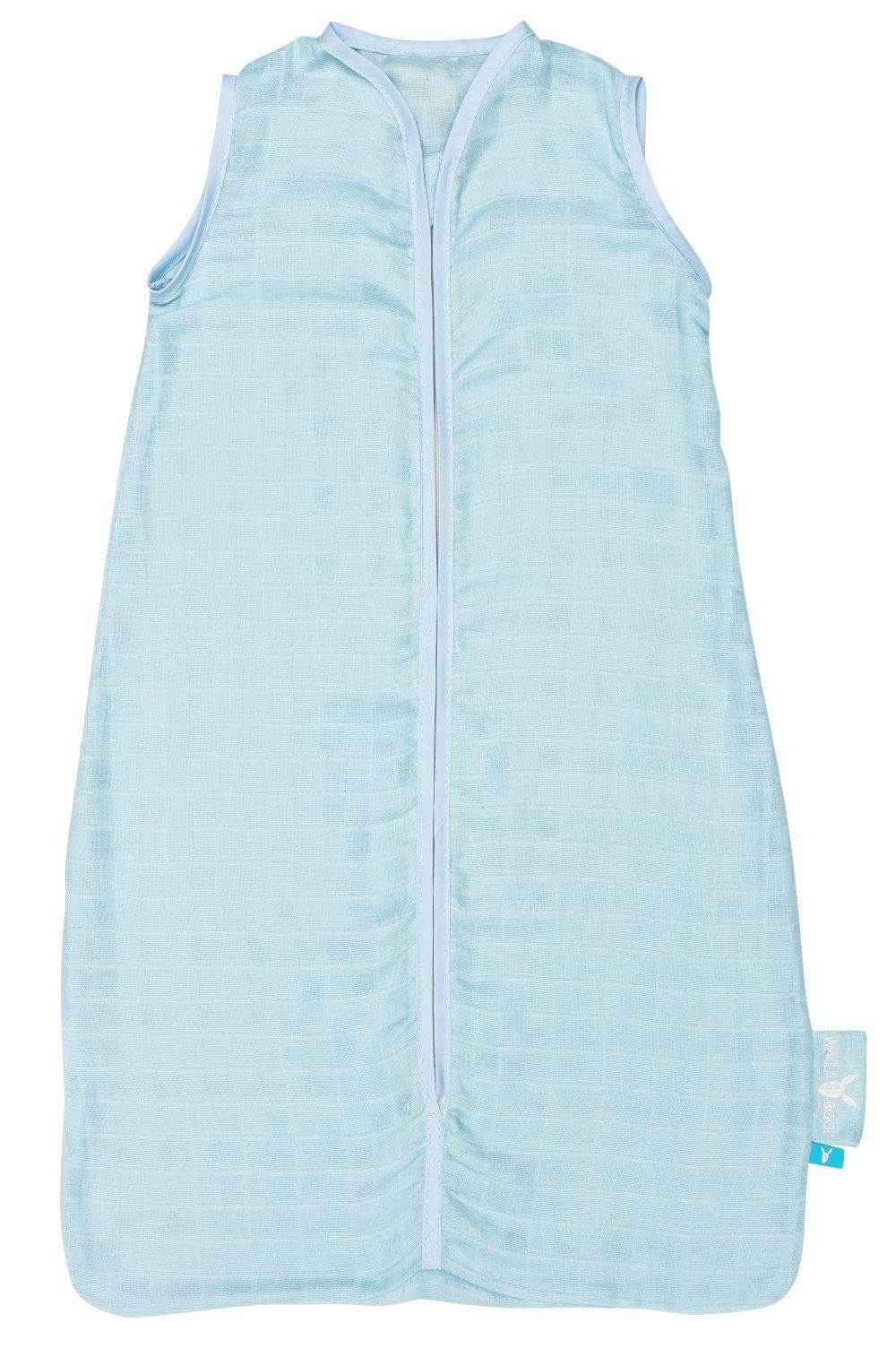 Wallaboo SL0.0411.3405 – Saco de dormir clásico, 0.5 tog, muselina de 100% algodón, 50 x 62 cm, color verde