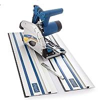 Scheppach Scie plongeante plPL45 1,01 kW 230 V 50 Hz Plus Rails 2 x 700 mm, 5901803905 - Bleu