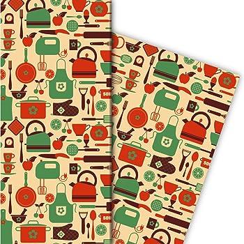 Papier zum Einpacken Nettes Kaktus Geschenkpapier mit Kakteen f/ür tolle Geschenk Verpackung und /Überraschungen 32 x 48cm Dekorpapier auf blau