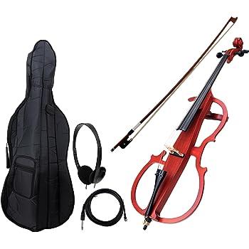 Classic Cantabile CE-200 E-Cello (elektrisches Cello/Violoncello mit Tonabnehmer, Tasche, Größe 4/4) natur matt