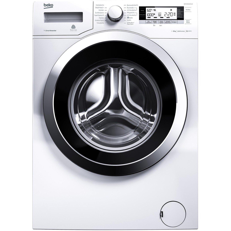 Beko WYA 81643 LE Waschmaschine Frontlader, 8 kg Füllmenge, Watersafe+, für Allergiker