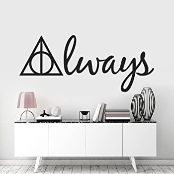 Harry Potter Deathly Hallows Symbol Always Removable Wall Sticker