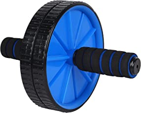Inditradition Ab Wheel Roller with Mat (Blue/Black)