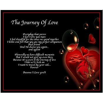 Amazonde Personalisierte Reise Der Liebe Gedicht