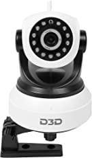 D3D D8809 Wireless HD IP Wifi CCTV Indoor Security Camera - Black & White (Support Upto 128 GB Micro SD Card)