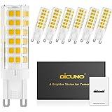DiCUNO G9 LED-lamp 6W, Vervanging voor 60W halogeenlampe, Dimbaar, 550 Lumen, 220-240V, Warm wit 3000K, Energiebesparing, Ker