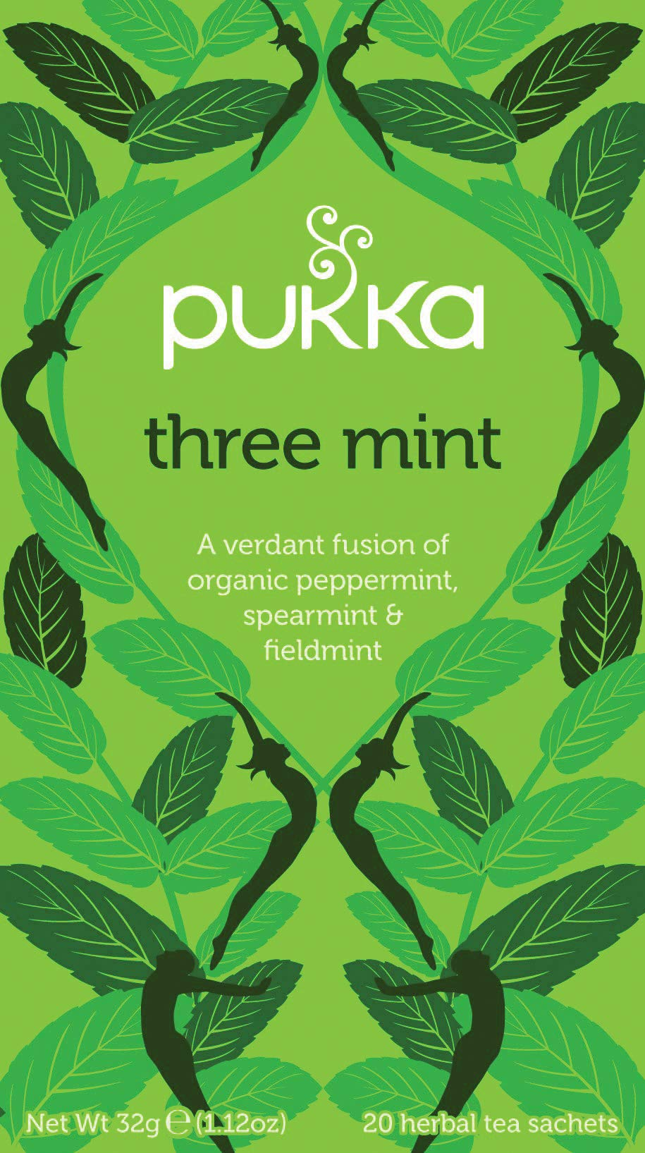 Pukka Digestif range tea bundle (soil association) (infusions) (4 packs of 20 bags) (80 bags) (a spicy tea with aromas of fieldmint, peppermint, spearmint) (brews in up to 15 min)