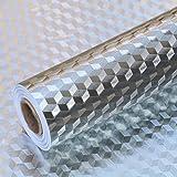 2 Meters Aluminum Foil Stickers, Kitchen Oil Proof Sticker, Kitchen Backsplash Wallpaper Self-Adhesive Kitchen Wall…