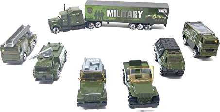 Khodal Enterprise Kids Die Cast Metal Military Toy Set (Green)