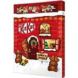 NESTLÉ KITKAT Adventskalender Schokolade mit 3D-Effekt, Weihnachtskalender mit 24 Schokoladenfiguren und Kugeln mit Knusperst