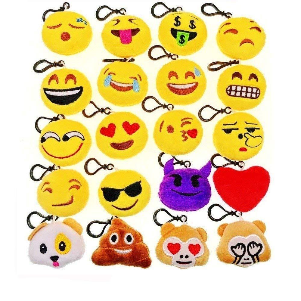 JZK Mini Juguete de Peluche Emoji Regalo favores Boda de Fiesta para niños y Adultos