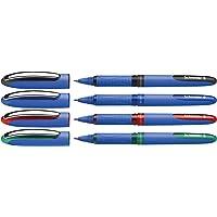 STABILO pointVisco 4er Tintenroller mit 2 verschiedene Farben 3x blau 1x schwarz